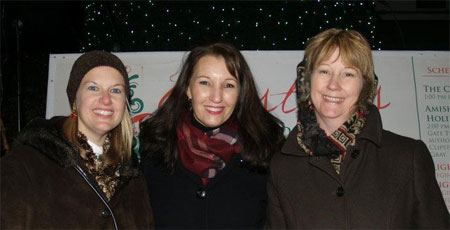 Amy, Shelley and Vannetta at the Light Parade